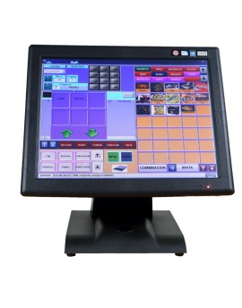 "KT-700 LED LC, POS tactil 15 "", Intel J1800, MSata SSD 32G, 2Gb RAM, customer display built-in"