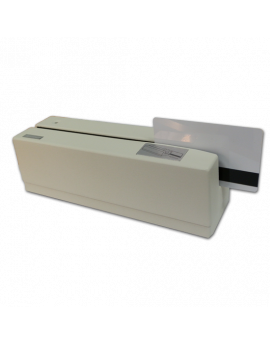 Magnetic stripe card reader MMSR-33-UB, 3 tracks, USB, white